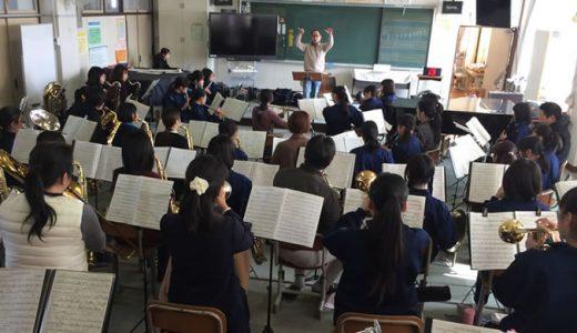 穂積中学校さんの演奏会に出演します